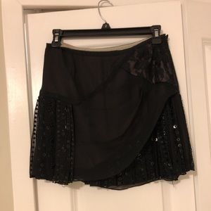 Nanette Lepore lace and beaded flapper mini skirt